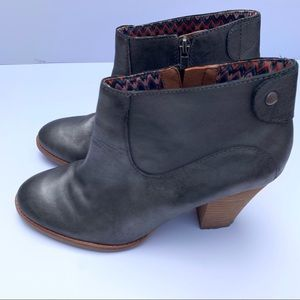 LUCKY BRAND BULLET GREY ZIP UP BOOTIES